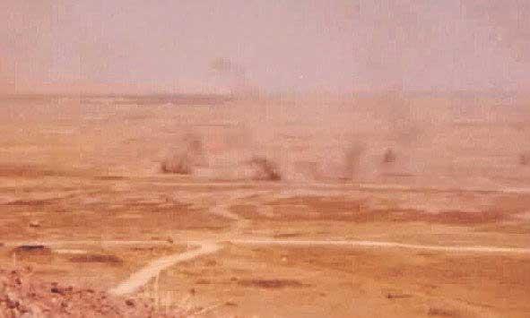 טנקים סורים עולים באש