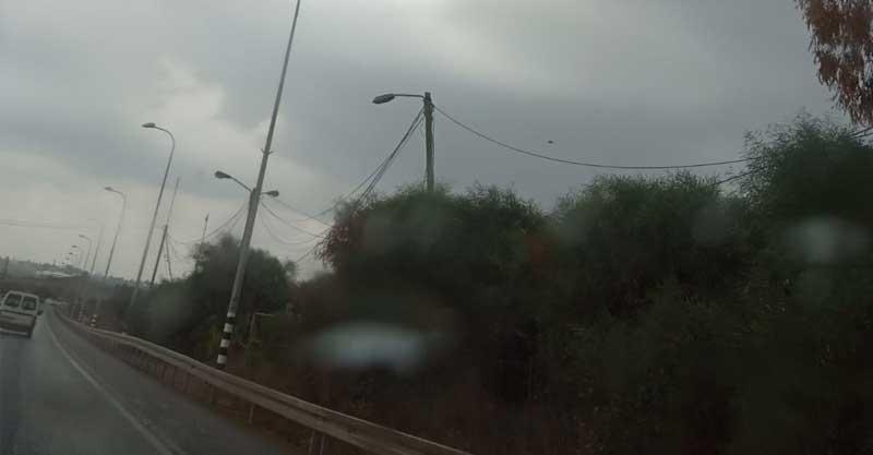 גשם באוגוסט בכפר סבא. צילום חן גוטהולץ-טל