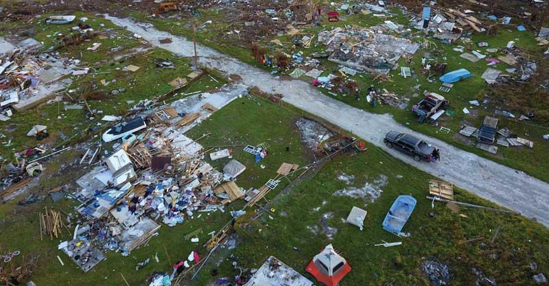 הסופה דוריאן שפגעה באיי הבהמאס בחודש אוגוסט. צילום AP