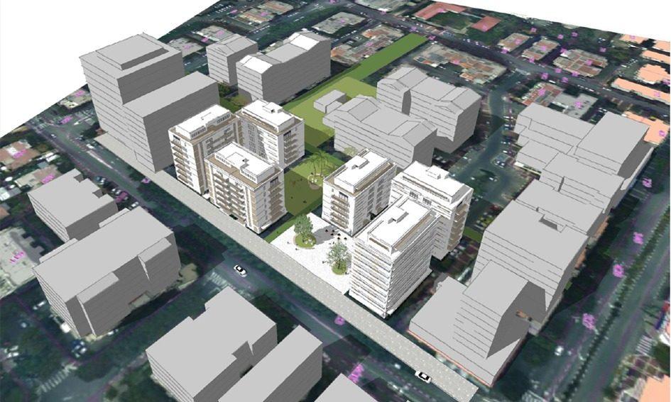 הדמיית תוכנית מתחם סוקולוב כפי שהוצעה על ידי הוועדה המקומית. באדיבות העירייה