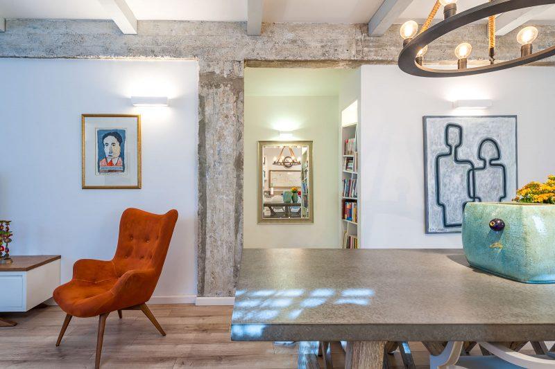 מנצ מילר - דירת שלושה חדרים בתל אביב סגנון עיצוב אקלקטי. צילום שני הלוי