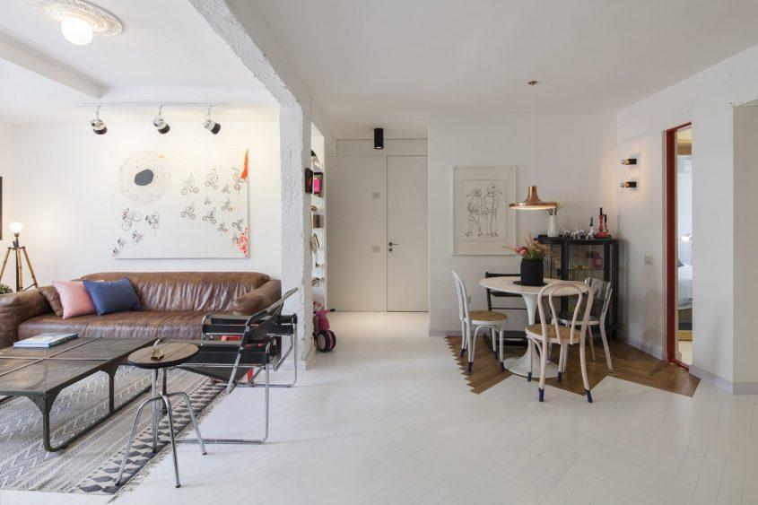 סטודיו 37 - דירה אורבאנית בהירה. צילום אביעד בר נס