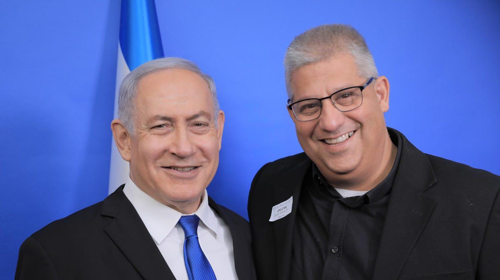 אורן כהן ובנימין נתניהו. צילום מטה נתניהו