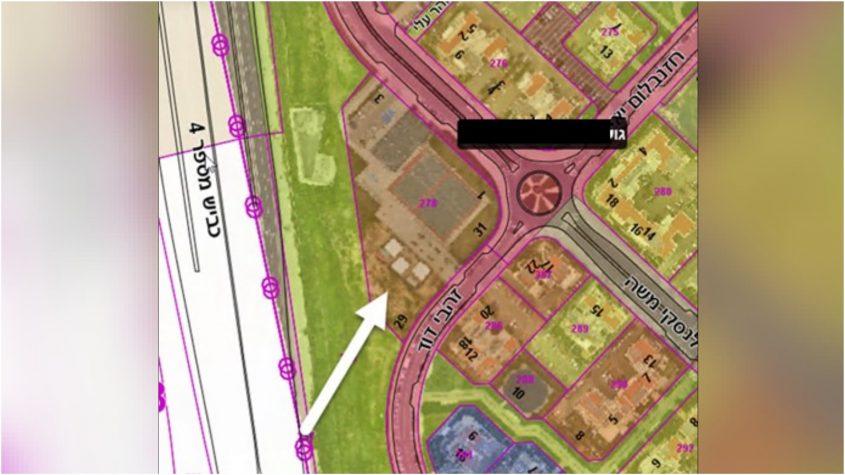 מפת האזור בו יוקמו מבני תנועות הנוער החדשים צילום: עיריית כפר סבא