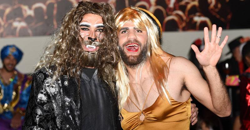 נועם גמון וטום שלח במסיבת פורים. צילום: ירדי עואמי