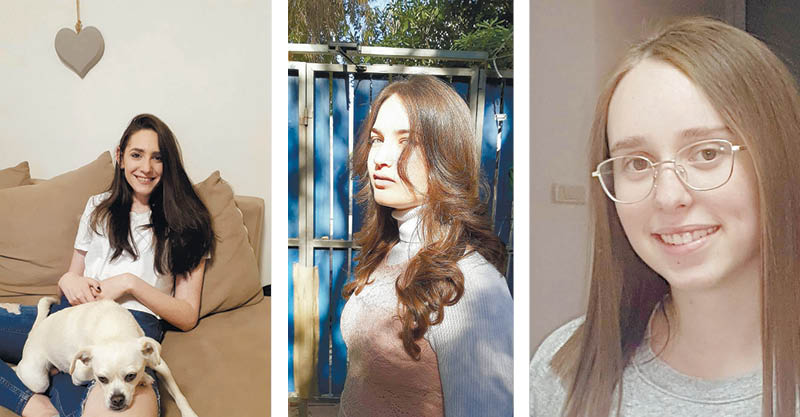 שני זהבי, מיקה בלום ונועה פלד. צילומים פרטי