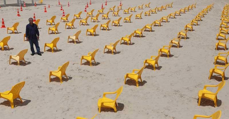 חוף אכדיה. צילום דוברות עיריית הרצליה