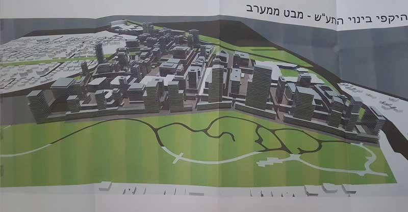 הדמיית אזור התעסוקה החדש בכפר סבא. מתוך התוכנית