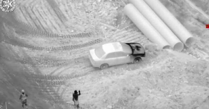 פענוח הירי לעבר השוטרים בטירה. צילום משטרת ישראל