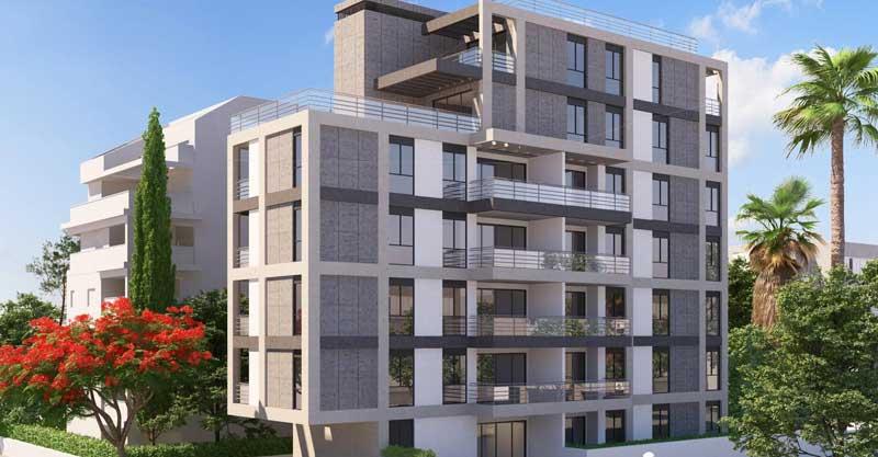 """הדמיית הבניין החדש ברחוב טרומפלדור 2 בכפר סבא. צילום הדמיה קידר מבנים בע""""מ"""