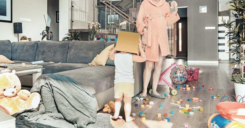 אילוסטרציה של בלאגן בבית